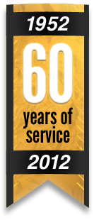 60 years of service. 1952-2012.